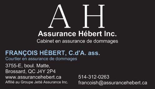 Francois Hebert, Assurance Hébert, Assurance commerciale, Assurance entreprise